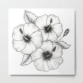 Hibiscus Sea Metal Print