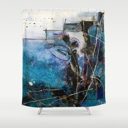 Midnight Sky, Acrylic artwork Shower Curtain