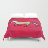 horse Duvet Covers featuring Horse by Brontosaurus