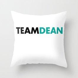 Team Dean Gilmore Girls Throw Pillow