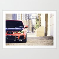 subaru Art Prints featuring Subaru WRX by mhansphotography