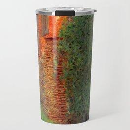 """Gustav Klimt """"Farmhouse in Kammer am Attersee"""" Travel Mug"""