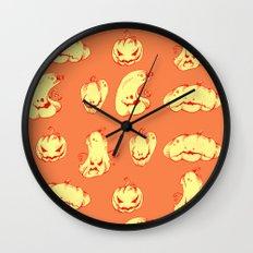 Crazy Pumpkin Party Wall Clock