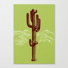 cactus y nieve Canvas Print
