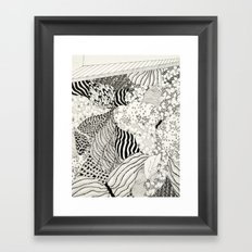 Sometimes the world is too big and I live underground Framed Art Print