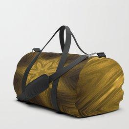 Golden Amber Metalic Abstract Star #Kaleidoscope Duffle Bag