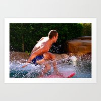 Catching Waves Art Print
