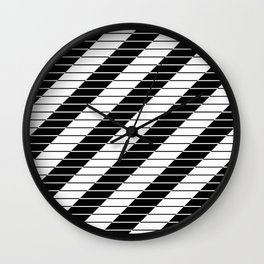 Simply Black And White (Abstract, geometric design) Wall Clock
