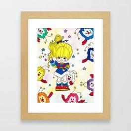 Rainbow and friends Framed Art Print