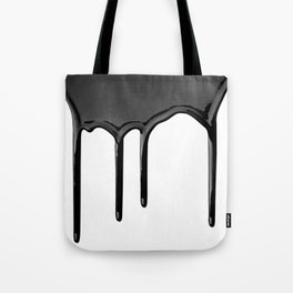 Black paint drip Tote Bag