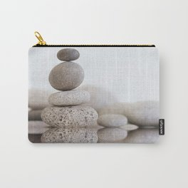 Stone Balance pebble cairn and water Carry-All Pouch