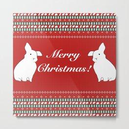 Bunny Christmas Metal Print