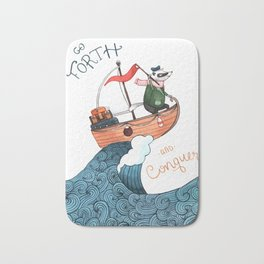 Go Forth and Conquer! Bath Mat