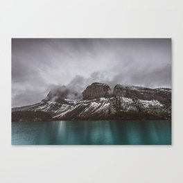 Landscape Maligne Lake Mountain View Photography | Alberta | Canada Canvas Print