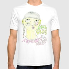 Girl Germs & Feminist Dreams White Mens Fitted Tee MEDIUM