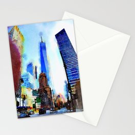 World Trade Watercolor Stationery Cards