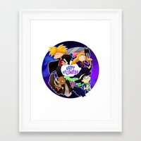 hey arnold Framed Art Prints featuring Hey Arnold Halloween by Kitty Kichi