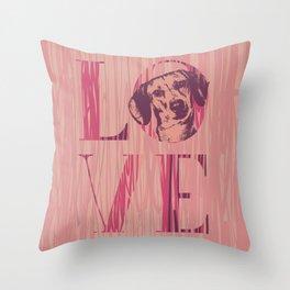 Dachshund dog  - Doxie Throw Pillow