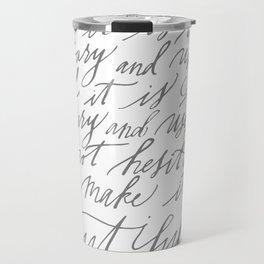 Shaker Dictum (Calligraphy) Travel Mug