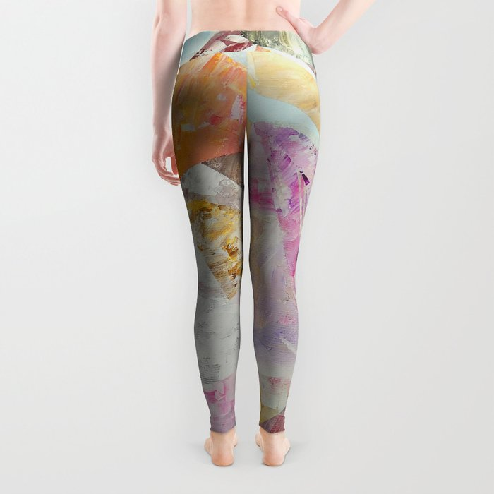 Abstract painting 25 Leggings