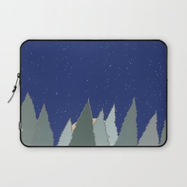 Evergreens and Silent Night Snow Laptop Sleeve