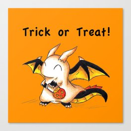 Trick or Treat Dragon Canvas Print