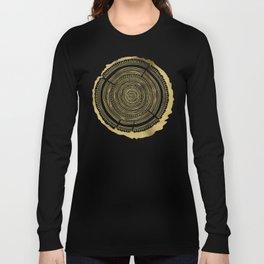 Douglas Fir – Gold Tree Rings Long Sleeve T-shirt