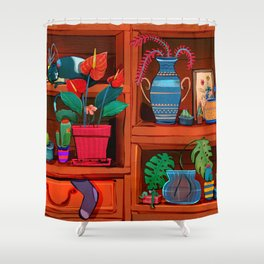 my credenza Shower Curtain