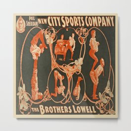Vintage poster - The Brothers Lowell Metal Print