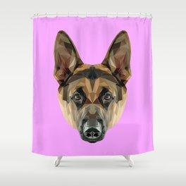 German Shepherd // Lilac Shower Curtain
