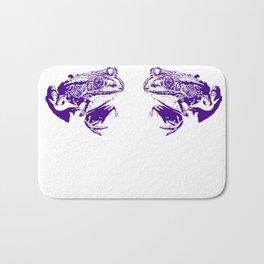 purple frog II Bath Mat