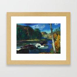 "George Wesley Bellows ""Mill Dam"" Framed Art Print"