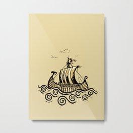 Viking ship 2 Metal Print