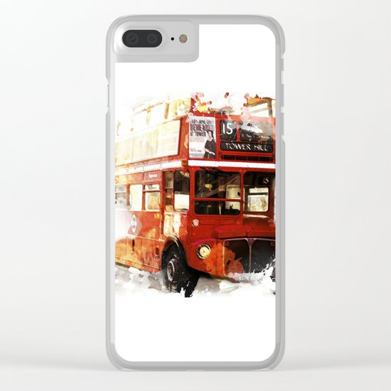 London Bus Clear iPhone Case