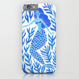 Kelp Forest Mermaid – Blue Palette iPhone Case
