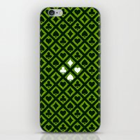 suits iPhone & iPod Skins featuring Card Suits by Diogo Coito