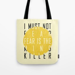 Dune - The Litany Against Fear (BLK) Tote Bag