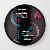 twins Wall Clocks featuring Twins by Mike Friedrich