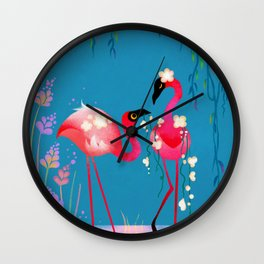 Flowermingo Wall Clock