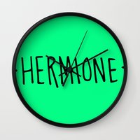 hermione Wall Clocks featuring Hermione by Annie Claire