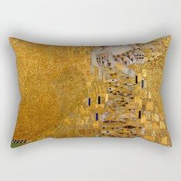 The Woman In Gold Bloch-Bauer I by Gustav Klimt Rectangular Pillow