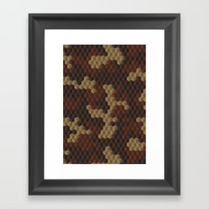 CUBOUFLAGE LUXE Framed Art Print