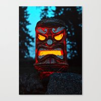 returns Canvas Prints featuring Tiki returns by Vorona Photography