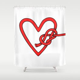 knot in love Shower Curtain