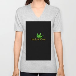 Herba Cure - Marijuana Unisex V-Neck