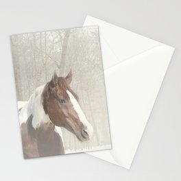 Sonny in the snow Stationery Cards