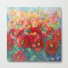 Impressionist Floral Abstract by OLena Art Metal Print