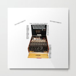 The Secret Code Machine enigma Metal Print