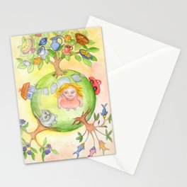 My holiday planet Stationery Cards