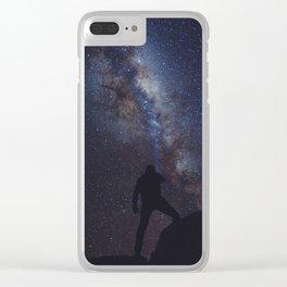 Iluminando la via lactea Clear iPhone Case